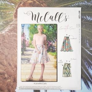 M7129 Jane McCalls Wrap Skirt Learn To Sew Pattern
